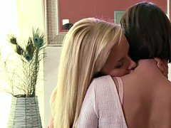 MOM Teen lesbian with massive natural breasts is seduced