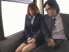Yuma Asami - Deep Throat on the bus