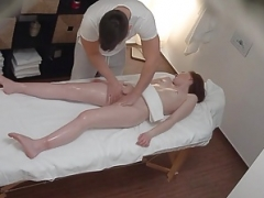 Tiny 18-19 year old didnt Expect Clit Massage