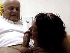 Inexperienced Massage Turns Into Blowjob With Hairless Grandpa