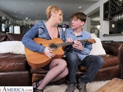 Eve Laurence will teach a sex lesson to the guitar teacher
