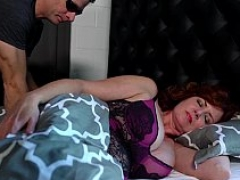 Sleeping big-breasted MILF seduced and fucked