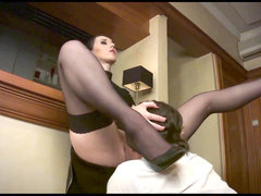 Dominant ladies make their sex slaves moan