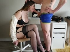 Ashley Alban Training Your Secretary - Hot Sex In Stockings