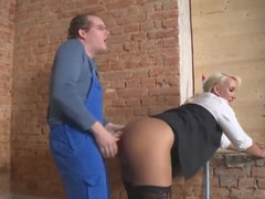 Big-Breasted German Slut Kitty Take Hard Male Stick
