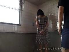 Asian slut slave being tied up needs to get punished