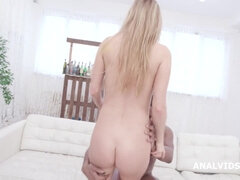Anal, Rubia, Corrida, Doble penetracion, Interracial