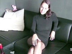 German whore banged by older man without Condom in HomeVideo