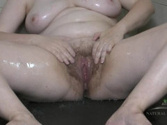 Romana takes a dirty shower