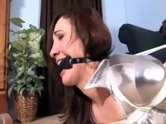 Angelique Kithos in Orgasms in Silver Spandex