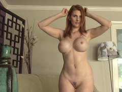 Redheads Penny Pax and Lilith Lust strip for us