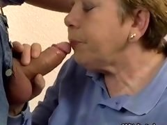 Nasty aged slut goes crazy giving bj