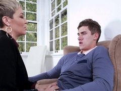 MILF lawyer Ryan Keely prepares her assistant for an important task