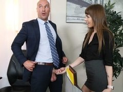 Spicy small-tit secretary Alex Blake fucked by a pretty big boner