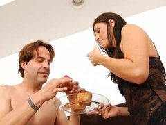 Gorgeous MILF India Summer pleases her man