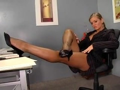Rita Faltoyano gets out her dildo in the office