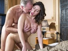 All-natural brunette Ally Breelsen fucked good by a huge sausage