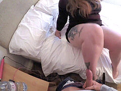 REAL HOOKUP: plumper Estella Bathory with steaming athletic guy