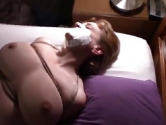 white wife milk sacks tied and moreover made to cum