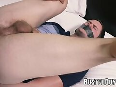 Jock Damien Nichols facialized by dirty hung cop
