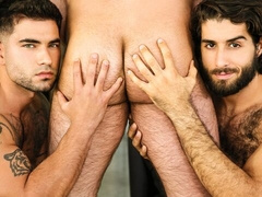 Brutal gay 3some with Vadim Black, Diego Sans, and Jaxx Thanatos