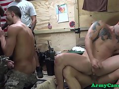 Military muscle hunks partying and cocksucking