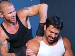 Buff dudes Brenn Wyson and Vince Ferelli fucking hard