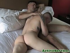 Hot for cock army infantry guys enjoy bj