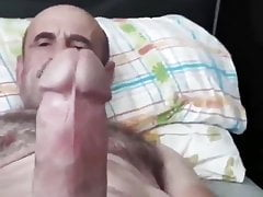 Turkish older man jerking off - short clip