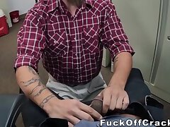 Handsome redneck butt fucked for cash at casting