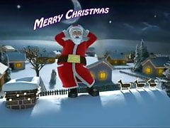 Father Christmas wishes Merry Christmas (01)