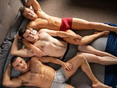 Bareback anal 3some with Manny, Nixon, and Archie