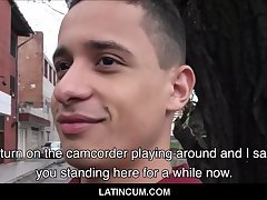 Twink Spanish Latino Approached By Stranger On Street For Amateur Sex With Friend