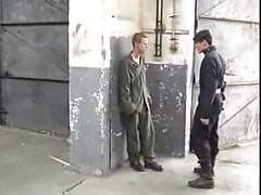 big cock soldiers suck each other