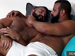 Two big latino guys drilling their asshole