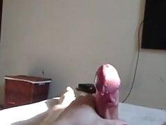 Tarzan jerks his stout cock