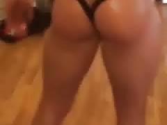 Hard ass in thong