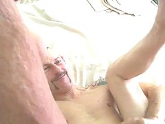 Mature dude gets pierced dong in a doggy style