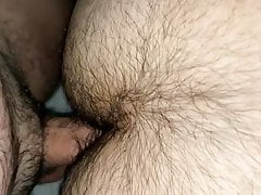 Hairy Asian got fucked by white European
