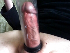 CUMMING INSIDE MY PENIS PUMP