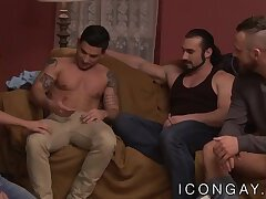 RImming and anal foursome with hunky muscular gays