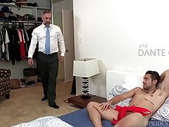 Old Bear Daddy Gets Young College Dick Surprise Fuck As Gift