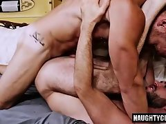 Tattoo son ass to mouth and cumshot