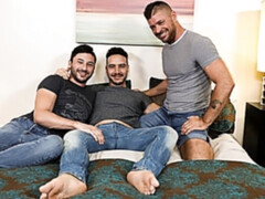 Couple invites a third guy for DAP (Scott DeMarco, Jack Andy, Alessio Vega)