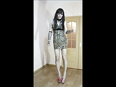 Crossdresser in dress