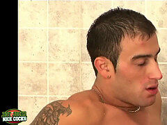 Athlete gays fucking their cock-squeezing a-holes in the locker apartment