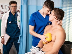 Hospital-based 3some with Nate Grimes, Michael Jackman, and Zane Williams