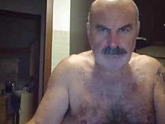 Moustached Hairy Arab Daddy Jerking Off