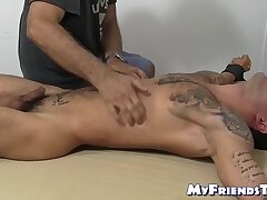 Young hairy amateur endures being tickle tormented by dom