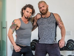 Gym-based anal with Archer Croft and Riley Mitchell